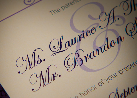 Laurice And Brandon's Wedding Invitations